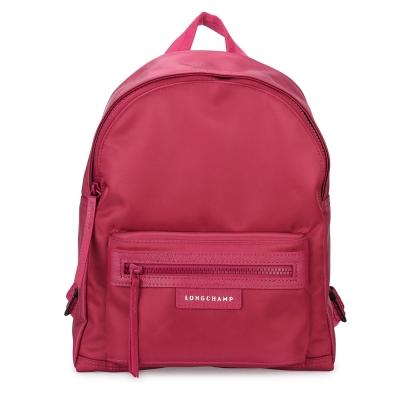 Longchamp Le Pliage Neo 厚尼龍後背包-小/莓紅
