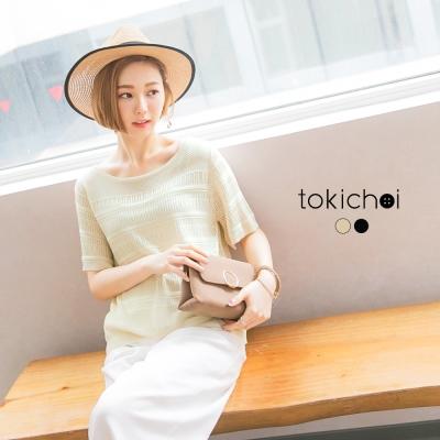 東京著衣 夏日渡假鏤空針織衫(共二色)