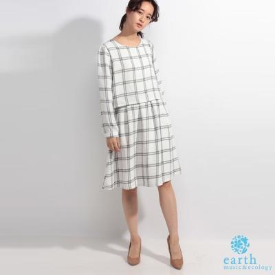 earth music  經典格紋連身洋裝