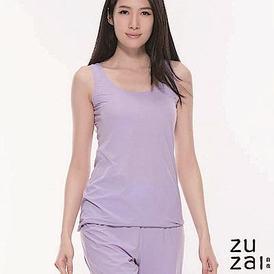 zuzai 自在絲感奇蹟居家圓領背心-女-淺紫色