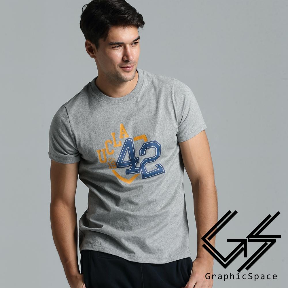 學院風數字42號磨毛水洗T恤(共二色)-Graphic Space
