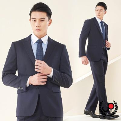 極品西服-經典紳士直條小劍領羊毛西裝_深藍(AS602-3G)