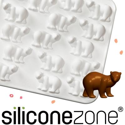 Siliconezone 施理康ZOO耐熱北極熊巧克力模/冰模-白色