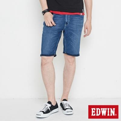 EDWIN 迦績褲 快乾合身短褲-男-石洗綠