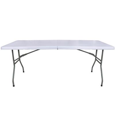 【免工具】深76x寬183x高74/公分(6尺寬度)4.5公分厚度-對疊折疊桌(1入/組)