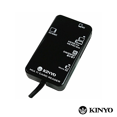 KINYO 多合一5插槽晶片讀卡機 (KCR-369)