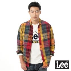 Lee 拼色長袖襯衫-男款