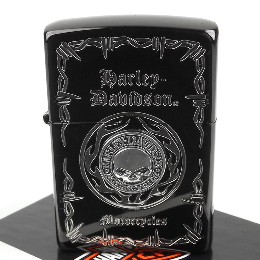 ZIPPO 日系~Harley-Davidson-哈雷-蝕刻立體金屬貼飾打火機 @ Y!購物