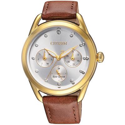 星辰CITIZEN Ladies光動能獨具格調腕錶(FD2058-19A)-37mm