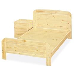 愛比家具 經典松木實木單人床架-實木床板