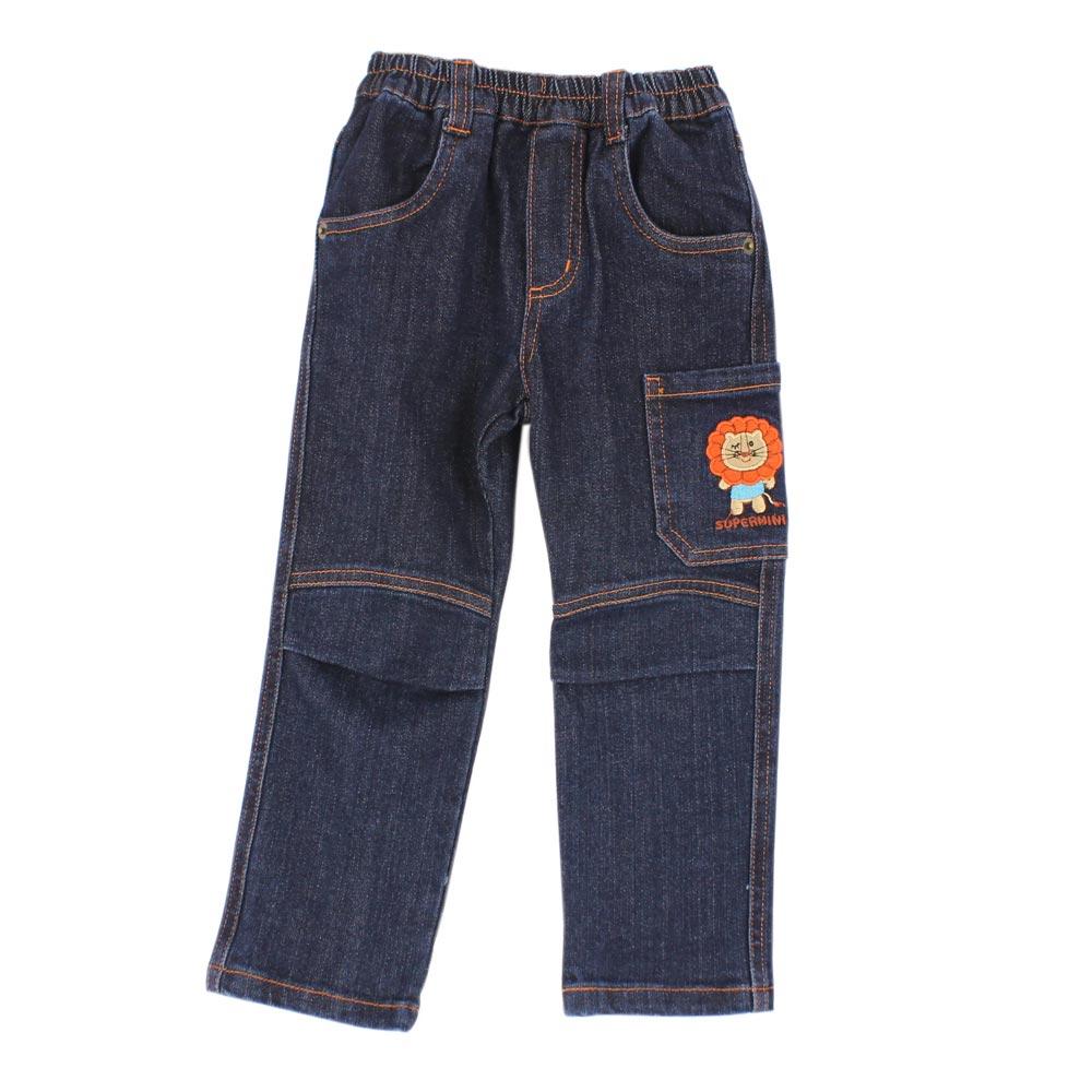 愛的世界 SUPERMINI 小獅子窄管緊身牛仔褲/6~8歲