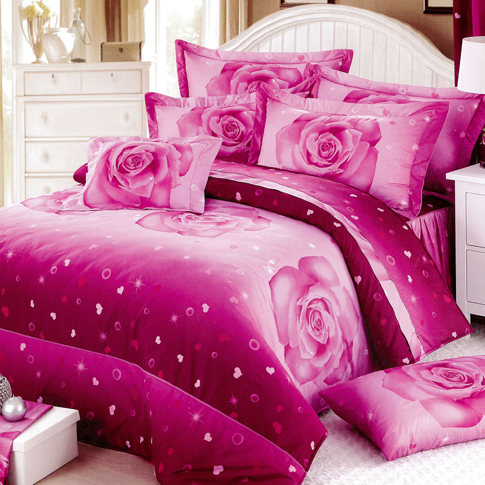 RODERLY花嫁系列-精梳純棉 兩用被床罩組 雙人八件式-永恆花緣
