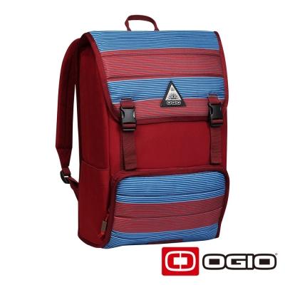 OGIO RUCK 17 吋 方陣電腦後背包-紅藍紋