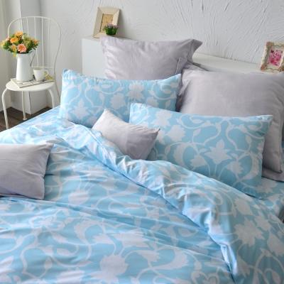 美夢元素 台製天鵝絨-枕套床包二件式-單人 (發現愛)