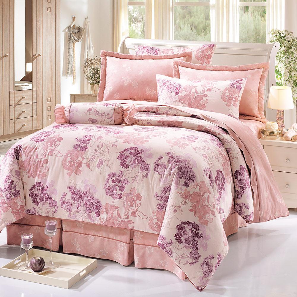 鴻宇HongYew 100%精梳棉 朵勒絲 雙人七件式兩用被床罩組