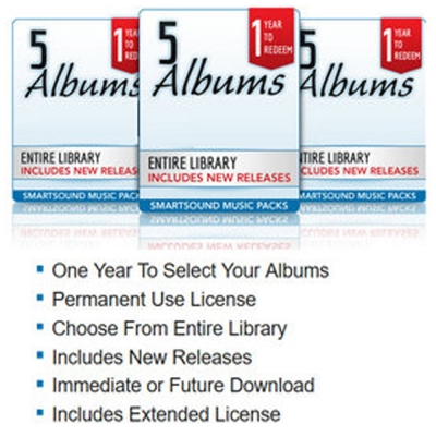 Smartsound Music Pack (版權音樂) 5 Albums (下載版)