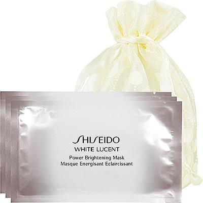 SHISEIDO 資生堂 美透白 淨電力面膜27ml/單片*3 旅行袋組
