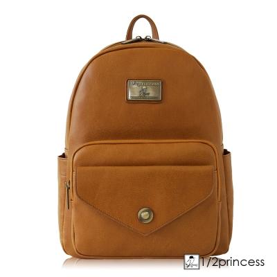 1/2princess二代復古皮革大容量信封後背包 -卡其[A2743] (快)