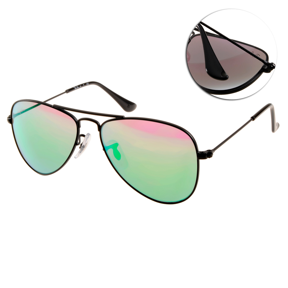 RAY BAN太陽眼鏡 兒童款/黑-水銀鏡面#RJ9506S 2013R