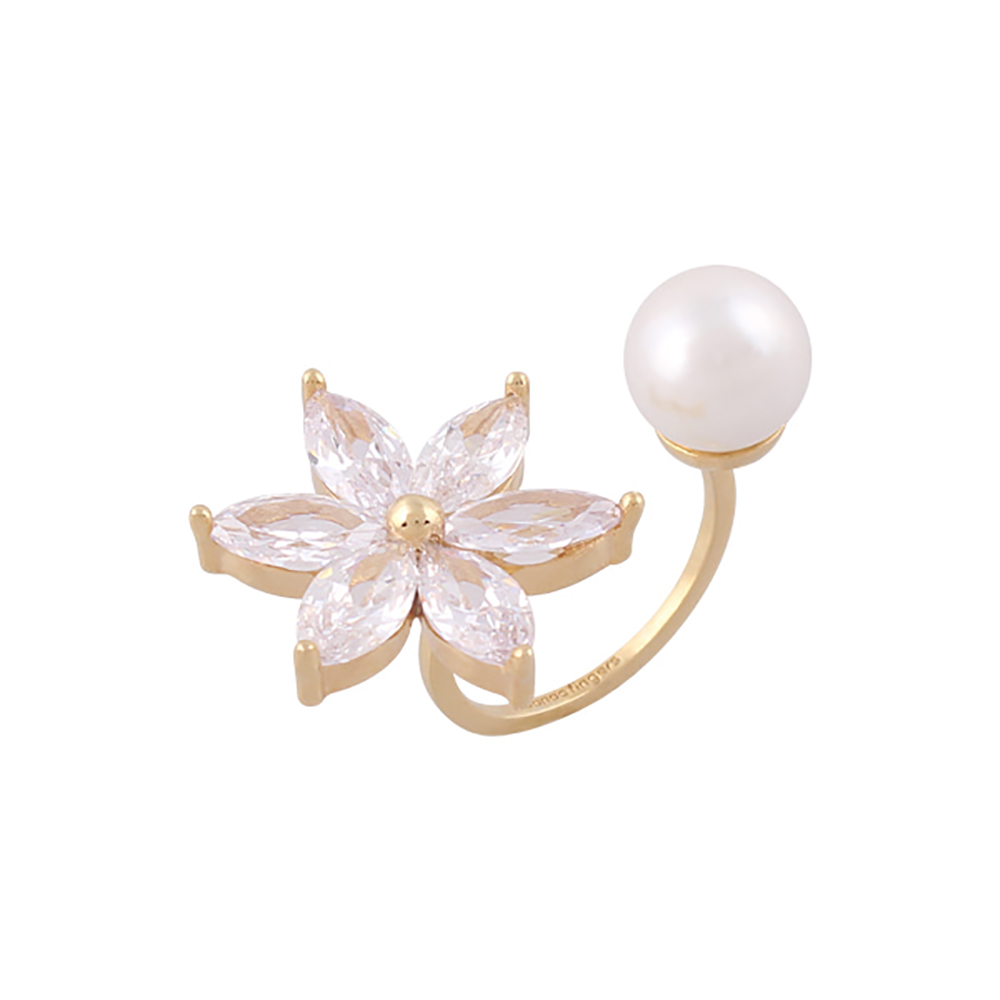 Noonoo Fingers HELICONIA PEARL RING 小天堂鳥花 戒指