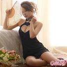 旗袍服 迷心愛戀典雅連身旗袍(黑色F) Caelia