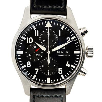 IWC 萬國錶 飛行員計時機械錶(IW377709) -黑/43mm