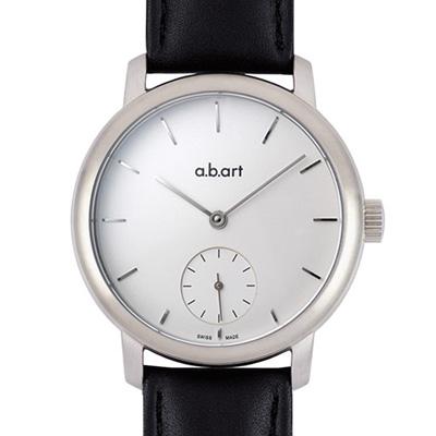 a.b.art MM系列 手上鍊動力儲存機械腕錶-白/46.5mm