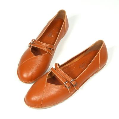 iki2新膚觸-真皮舒適休閒鞋 -  氣質咖啡