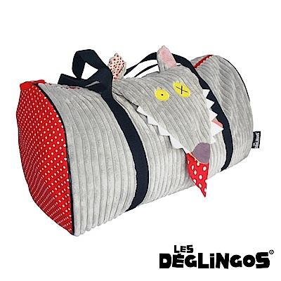 Les Deglingos 立體玩偶旅行側背包(周末休閒包)-狼 (BIGBOS)