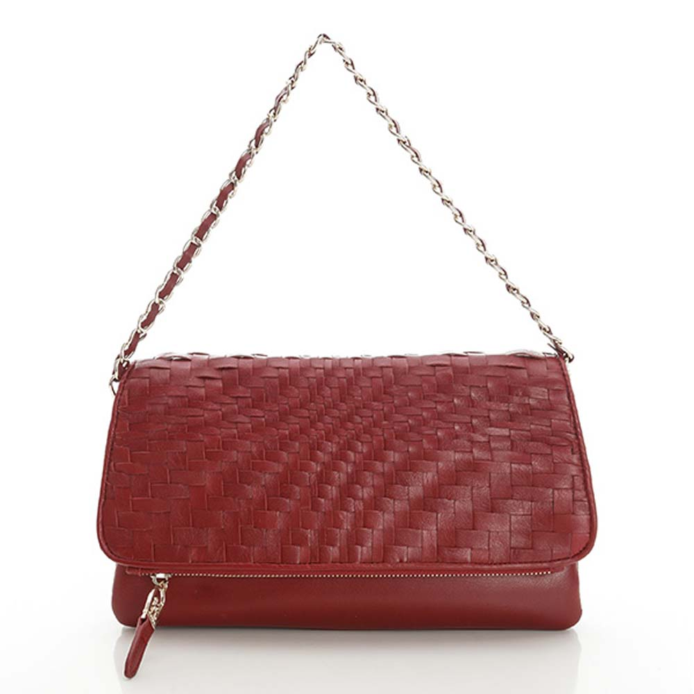 LouiseC.羊皮波浪編織包 -- 紅色06L05-0017A01