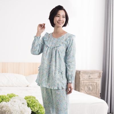 華歌爾睡衣 日本碎花印花居家服M-L兩件式睡衣(清新綠)