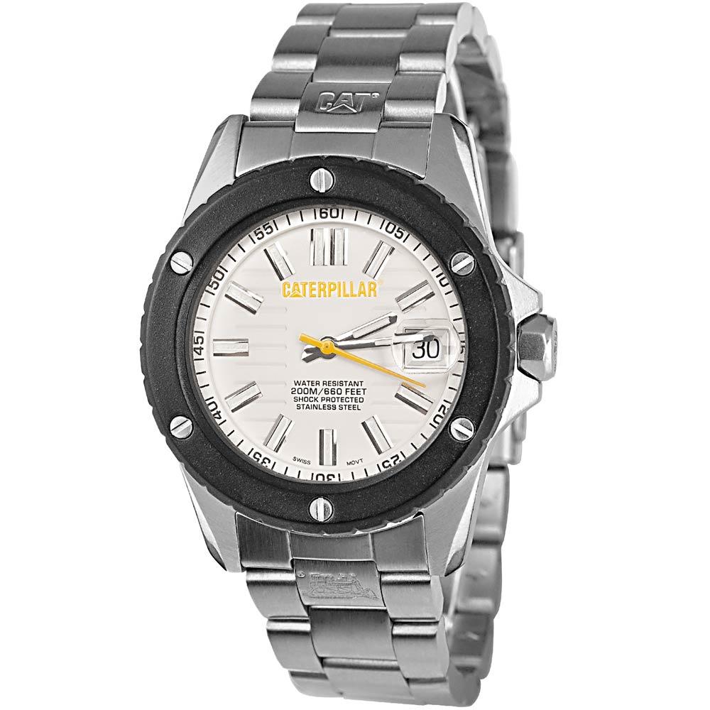 CAT 美式硬派休閒不鏽鋼腕錶-白/38mm