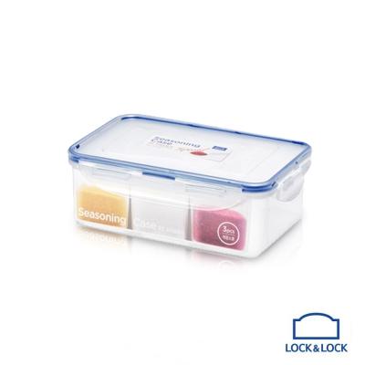 樂扣樂扣Special系列PP分隔保鮮盒1.0L(附分隔內盒+湯匙)(8H)