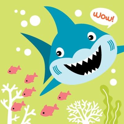 LOVIN 超萌韓版數字油畫 可愛鯊魚(6)1幅