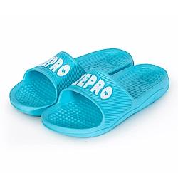 【ZEPRO】男款休閒拖鞋LIGHT系列-湖藍