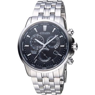 CITIZEN 星辰 萬年曆多功能腕錶(BL8140-80E)-黑/41mm