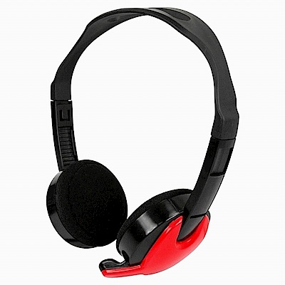 KINYO雙插頭電腦用頭戴式耳麥EM-3652兩入