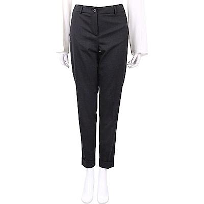 FABIANA FILIPPI 金屬珠鑲嵌深灰色反褶設計彈性羊毛褲