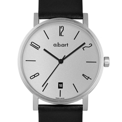 a.b.art O系列 當代德風極簡時尚腕錶-灰/40.5mm