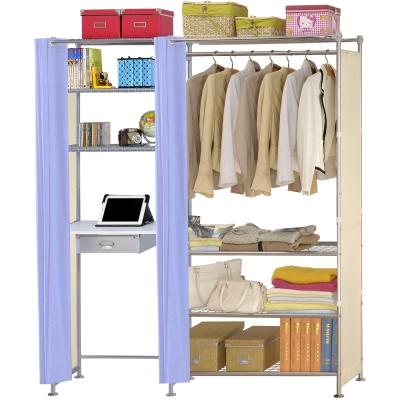 巴塞隆納-W4型90公分+E60公分電腦桌衣櫥架