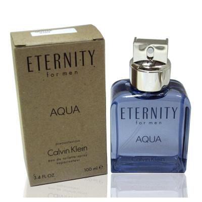 (海T)Calvin Klein Aqua 永恆之水男淡香水 100ml Test 包裝