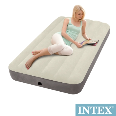 INTEX 新型氣柱-單人加大植絨充氣床墊-寬99cm(64707)