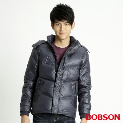 BOBSON 男款尊爵羽絨外套(藍53)