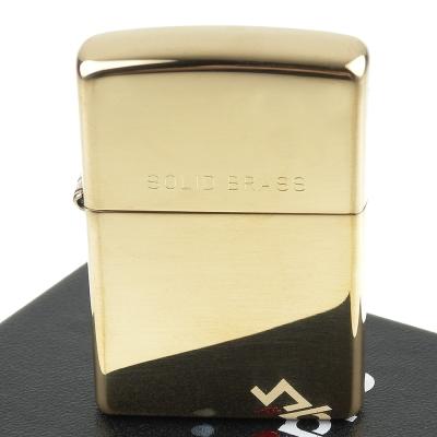 【ZIPPO】美系~Solid Brass~純銅高磨光金色鏡面(寬版)