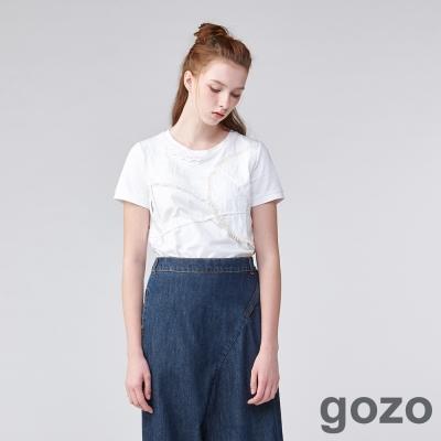 gozo再現浪漫流蘇上衣(二色)-動態show