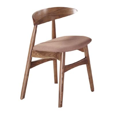 品家居 斯凡亞麻布實木餐椅-46x43x71cm免組