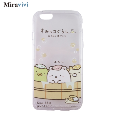 角落小夥伴/角落生物iPhone 6/6S(4.7吋)防摔氣墊空壓保護套_溫泉