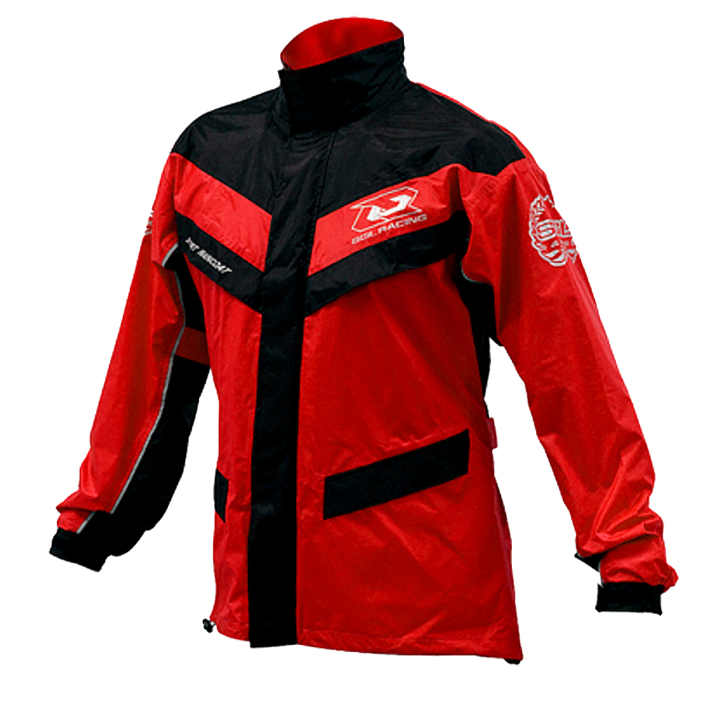 SOL SR2 兩件式運動型雨衣 (紅黑)