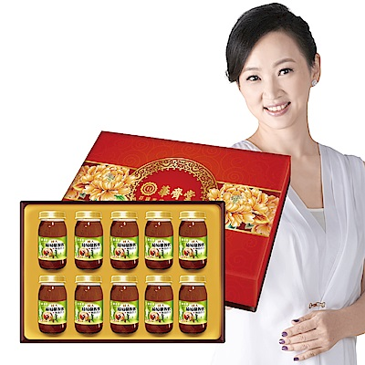 華齊堂 成人葡萄糖胺飲+龜鹿四珍禮盒( 60 mlx 10 瓶) 1 盒