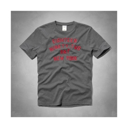 A&F KIDS(16)紅色字母短T恤(深灰)-童版